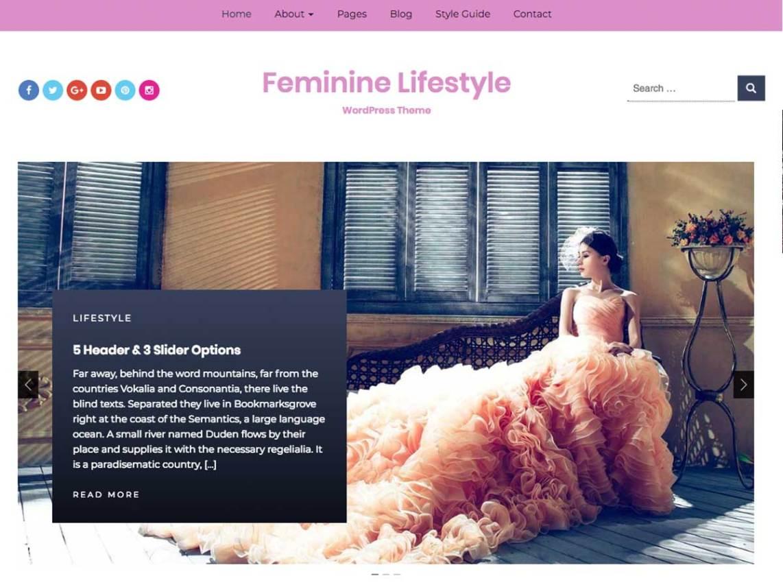 30+Elegantly Feminine Free WordPress Themes 14