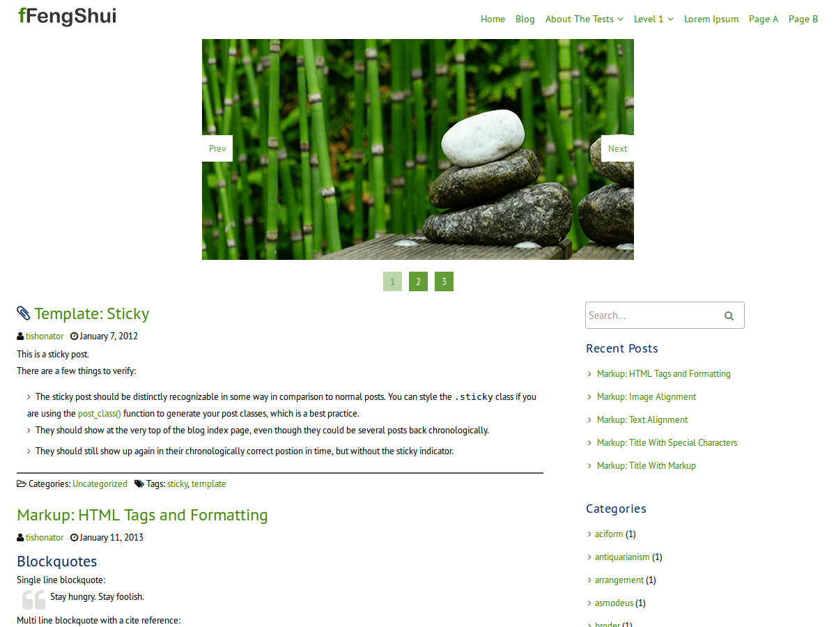 fFengShui free wordpress theme