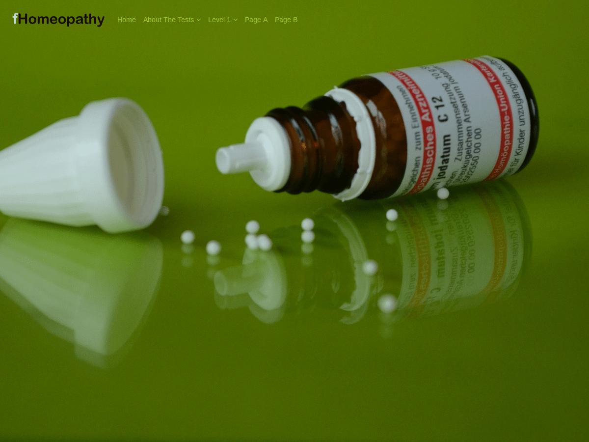 fHomeopathy free wordpress theme