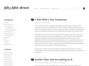 Fifty Fifth Street free wordpress theme