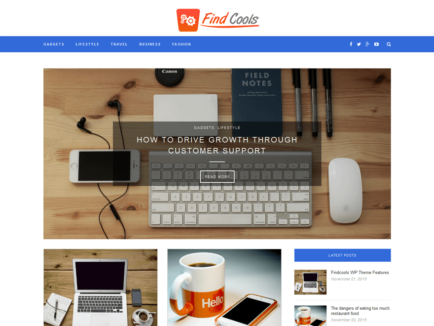 Findcoosl flexible wordpress responsive theme