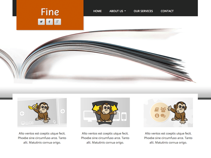 Fine free wordpress theme