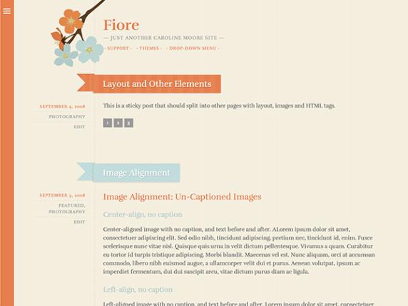 Fiore wordpress theme