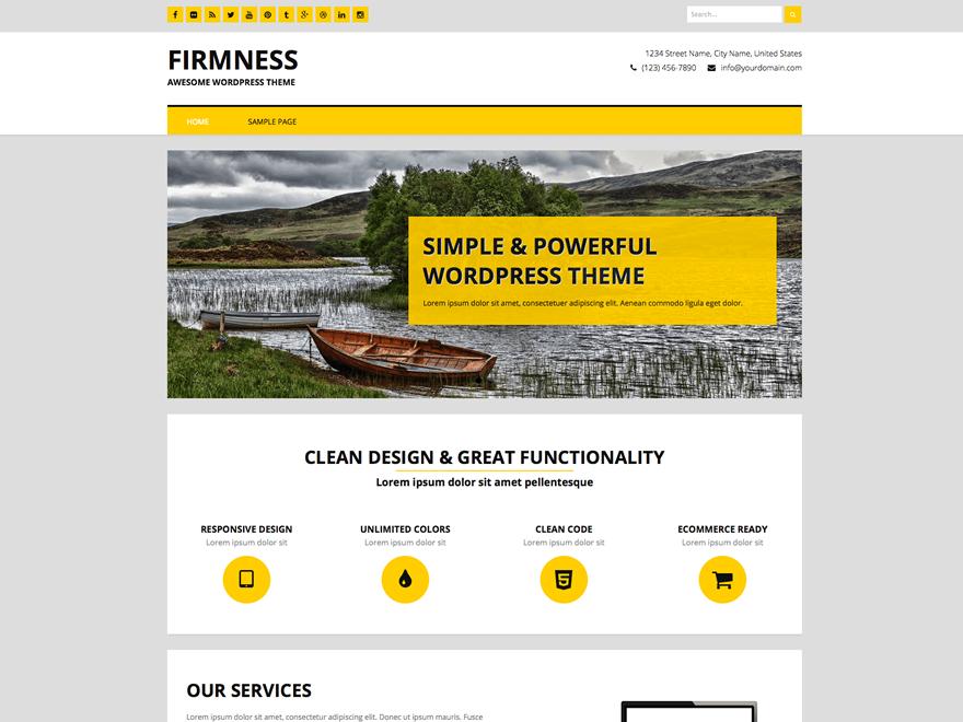 Firmness free wordpress theme