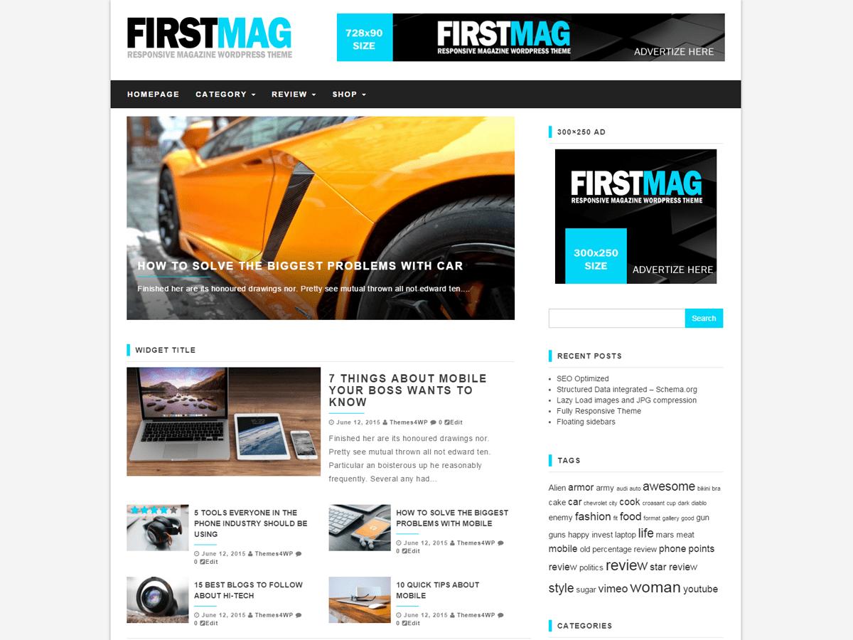 First Mag free wordpress theme