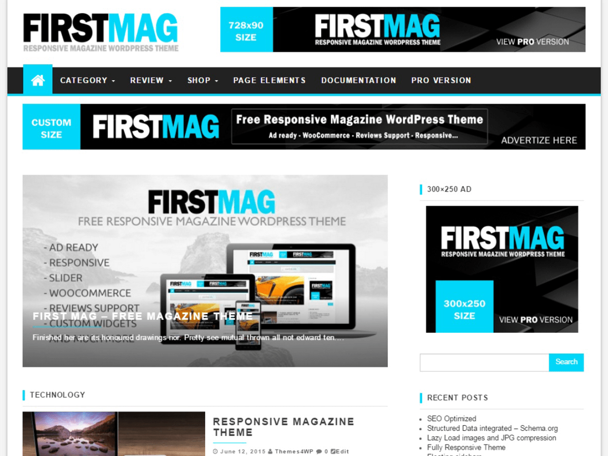 First Mag wordpress theme