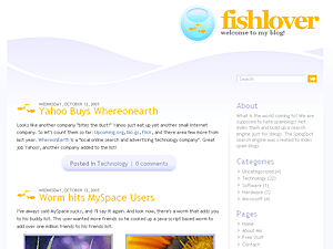 Fishlover free wordpress theme