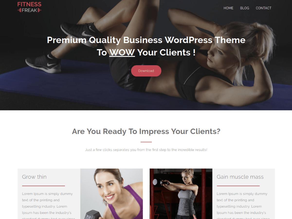 Fitness freak wordpress theme wordpress