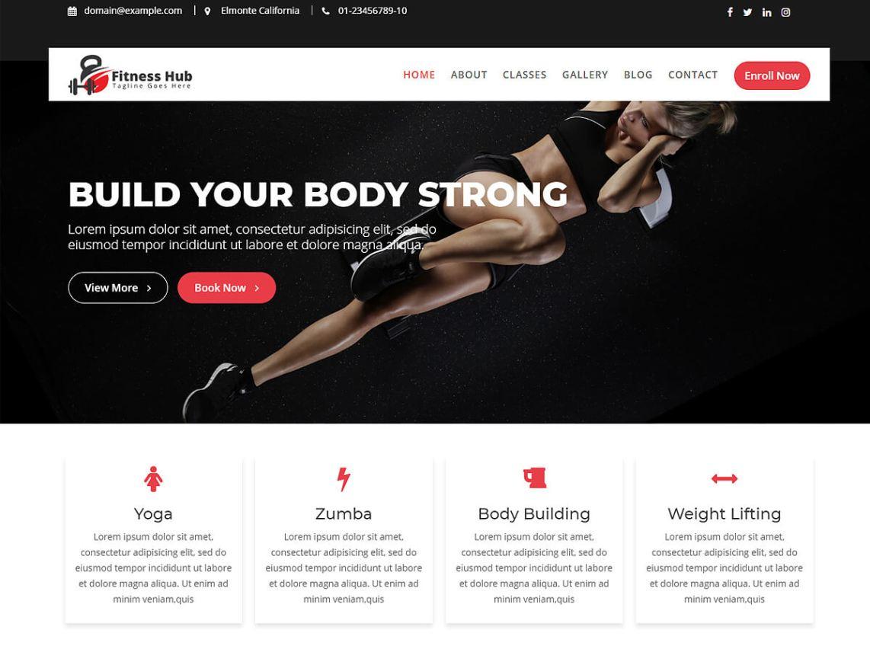 Fitness Hub Wordpress Theme Wordpress Org