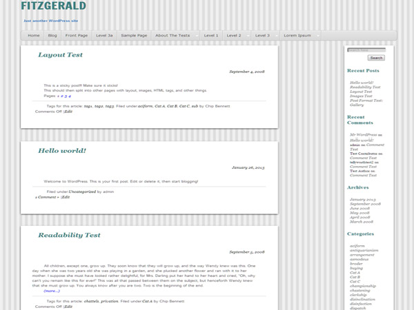 Fitzgerald free wordpress theme