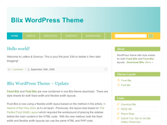 Fixed Blix free wordpress theme