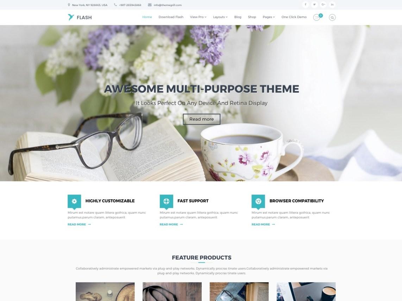 Flash — Temas WordPress gratuitos