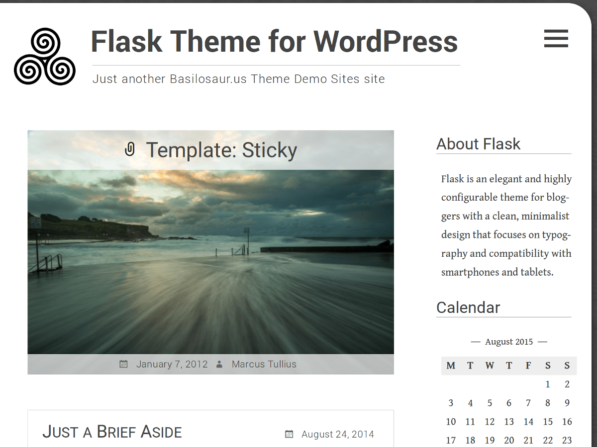 screenshot of Flask free WooCommerce theme