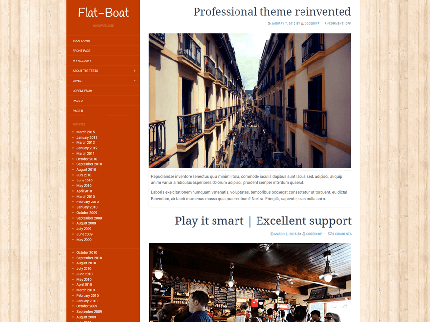 Flat-Boat free wordpress theme
