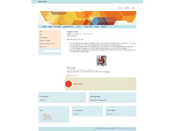 Flat Portfolio free wordpress theme