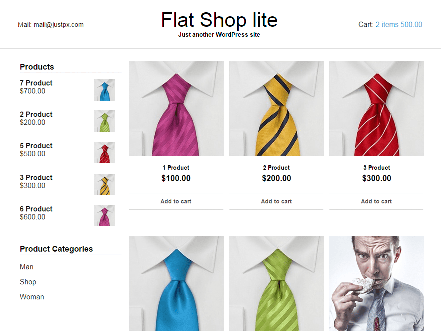 Flat Shop lite free wordpress theme