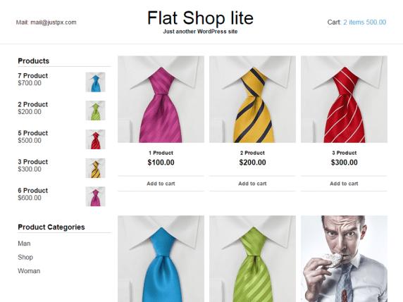 Flat Shop lite wordpress theme
