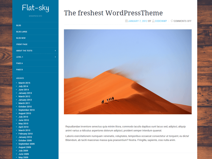 Flat-Sky free wordpress theme