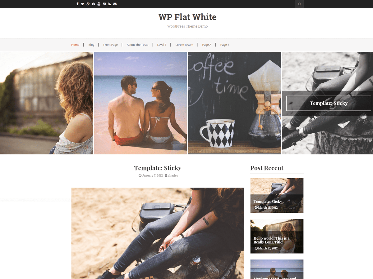 Flat White wordpress theme