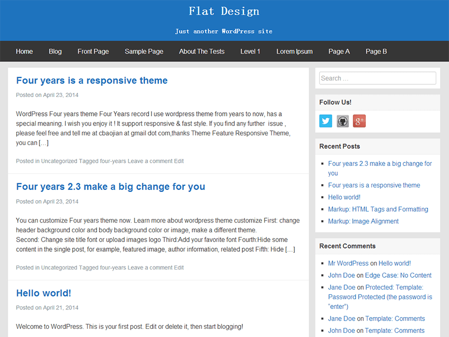 FlatBox free wordpress theme