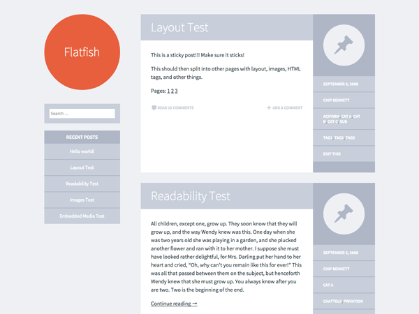Flatfish free wordpress theme