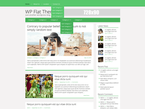Flatly wordpress theme