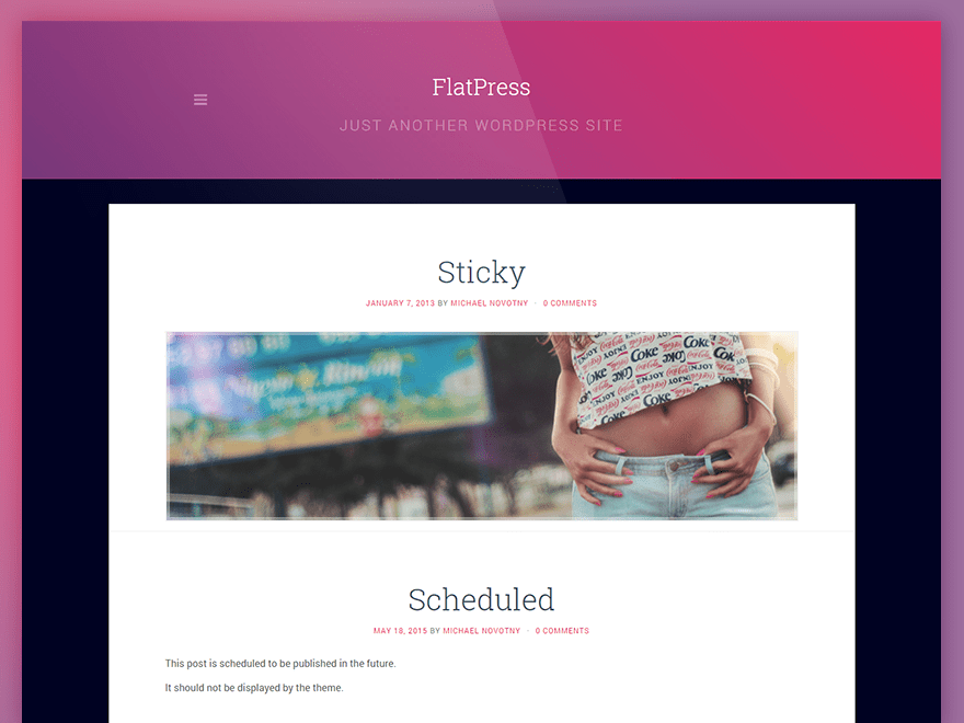 FlatPress free wordpress theme