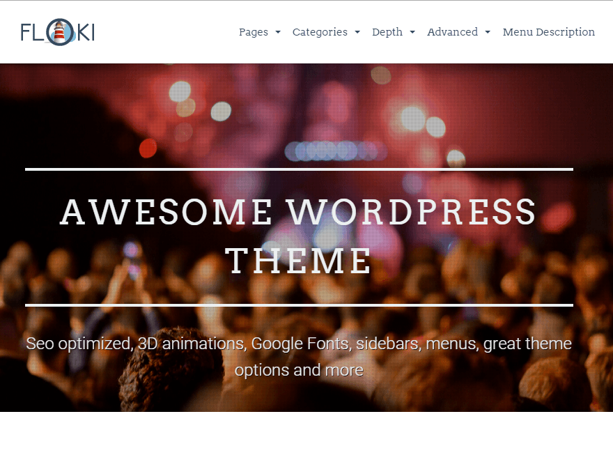 Floki free wordpress theme