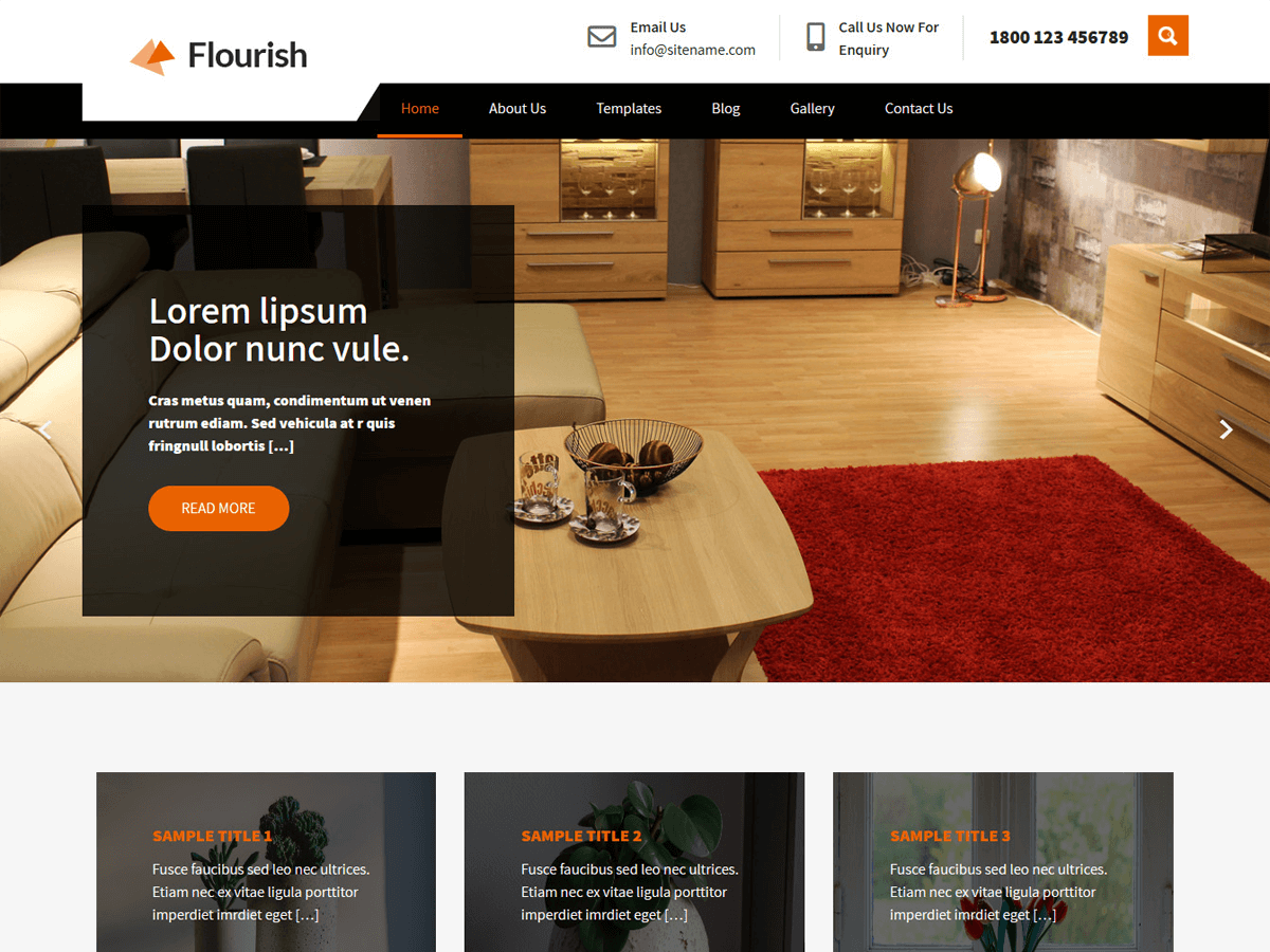 Flourish Lite Furniture Shop Free WordPress Theme