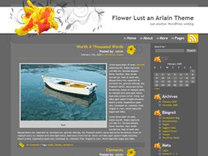 Flower Lust free wordpress theme