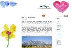 Flowery free wordpress theme