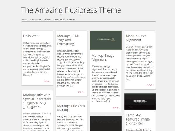 Fluxipress free wordpress theme