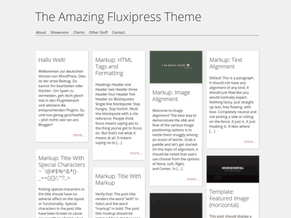 Fluxipress wordpress theme