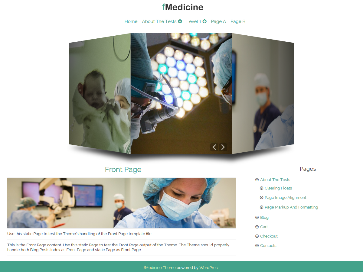 fMedicine free wordpress theme