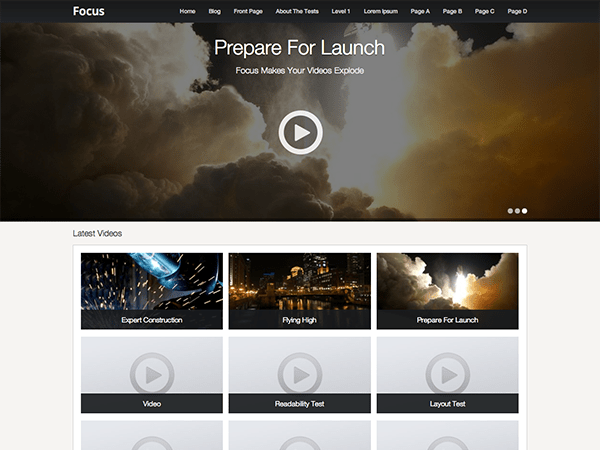 Focus free wordpress theme