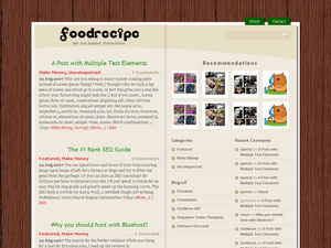 Food Recipe free wordpress theme