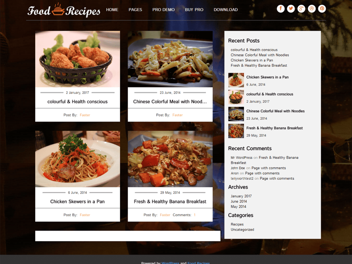 Food recipes wordpress food recipes is a twitter bootstrap based responsive wordpress theme mainly designed for those bloggers who are interested in writing their blogs on food forumfinder