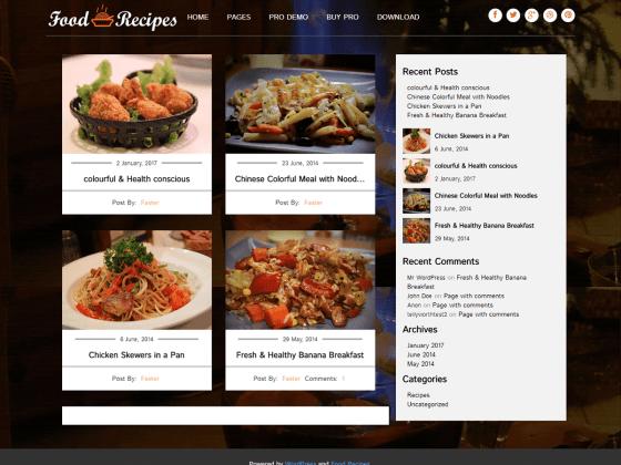 Food recipes wordpress forumfinder Choice Image