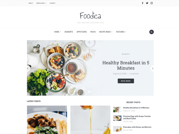Foodica Lite Theme | BGNBuzz