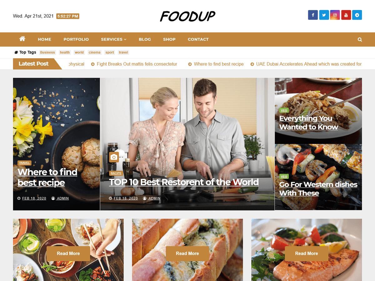 WordPress主题:Foodup