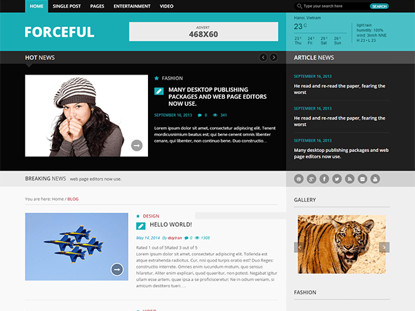 Forceful Lite free wordpress theme