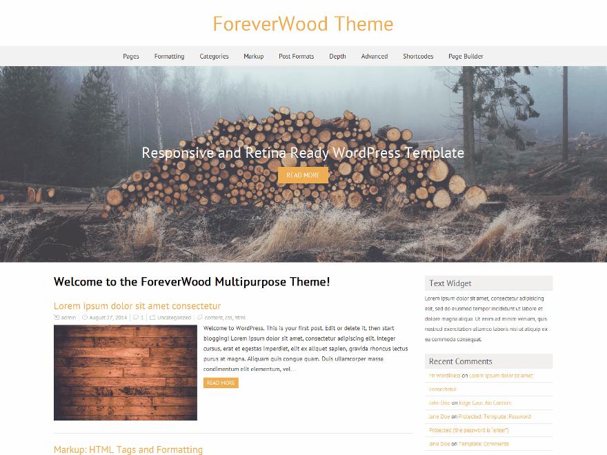 ForeverWood theme wordpress gratuit