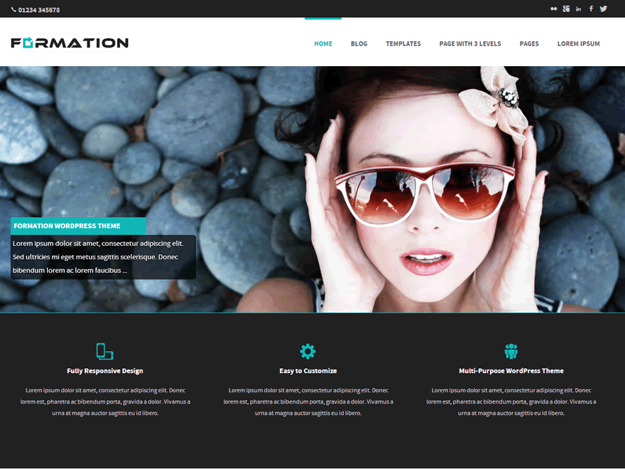 Formation free wordpress theme