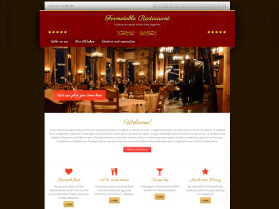 Formidable Restaurant wordpress theme