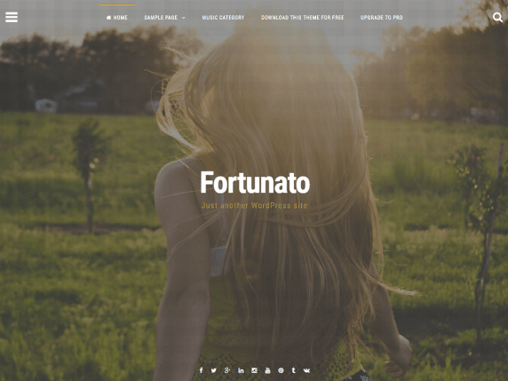 Fortunato wordpress theme