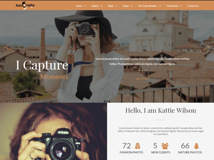 FotoGraphy free wordpress theme