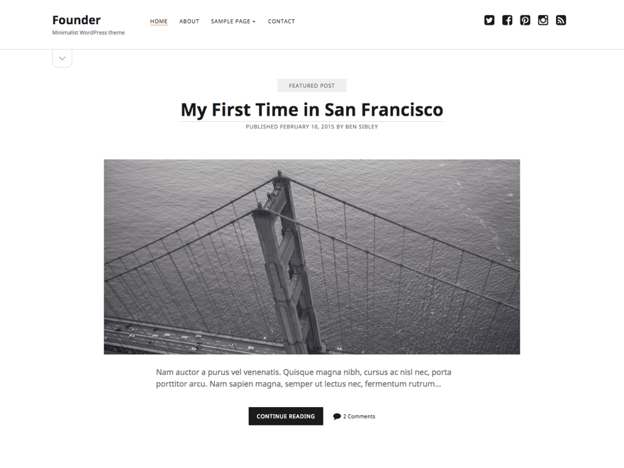 Founder free wordpress theme