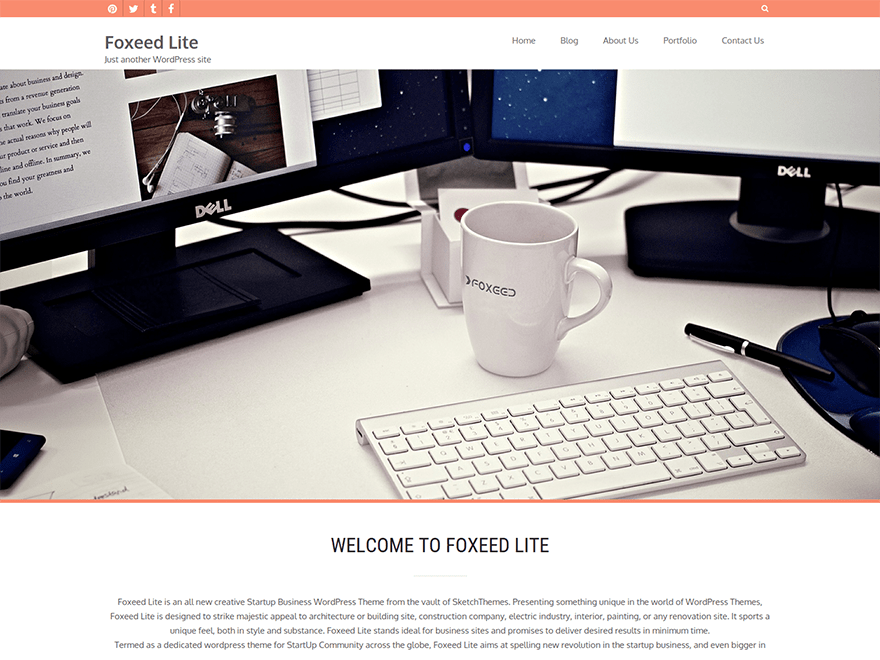 Foxeed Lite free wordpress theme