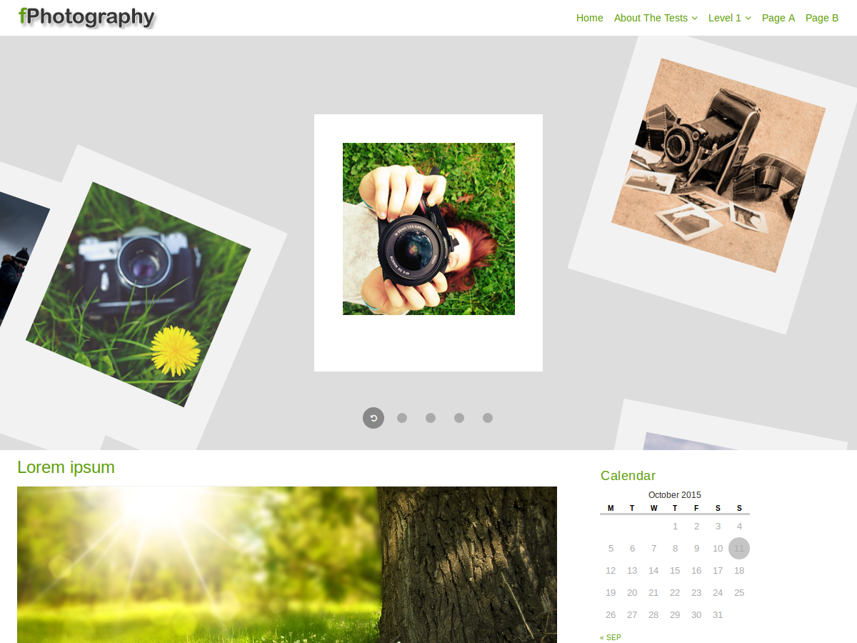 fPhotography free wordpress theme