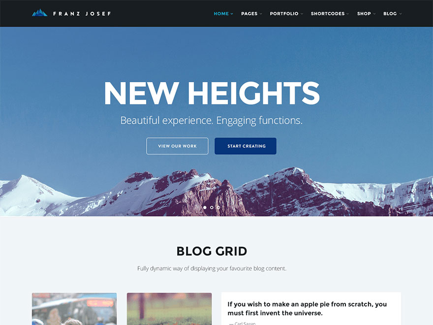 Franz Josef free wordpress theme